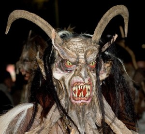 Krampus! Ready to kidnap your children and eat them for dinner!