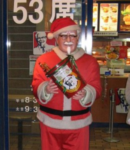 A Christmas KFC Colonel in Japan