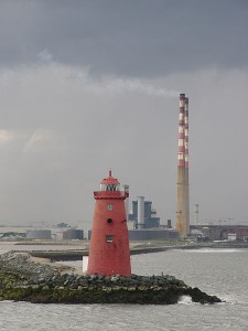 A lighthouse in Dublin, on a less sunny say. (Photo by Robert Young)
