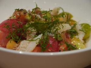 Tomato and melon salad, Momofuku, NYC.