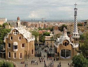 Park Güell. Photo via Wikimedia, by Bernard Gagnon