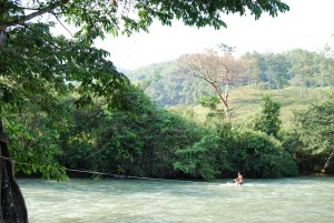 River Surfing is a favorite pastime on hot afternoons!