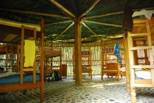 The awesome circular dorm at El Retiro Lodge.