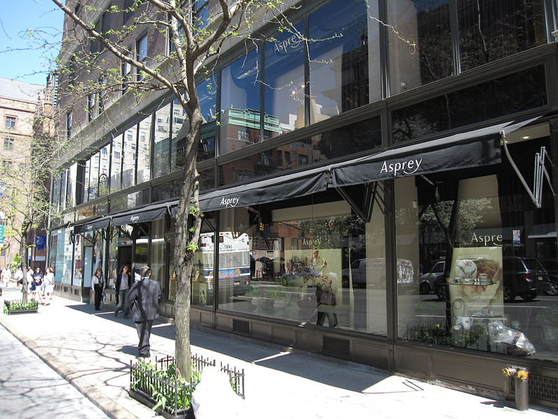 Asprey on 853 Madison Avenue in New York. Photo via Wikimedia, by Gryffindor.