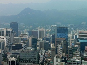 Downtown Seoul. Photo via Wikimedia Commons, by Craig Nagy.