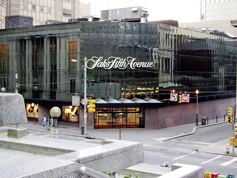 Saks Fifth Avenue. Photo via Wikimedia, by  Zyphbear