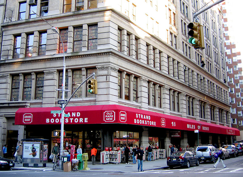 The Strand Book Store, Manhattan. Photo via Wikimedia, by Postdlf