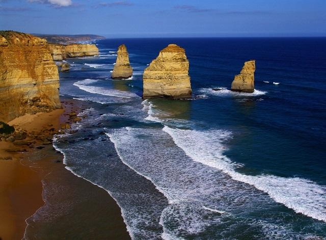 Australia's Great Ocean road is renowned for its spectacular coastline and the Apostles are the star attraction.