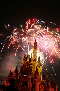 Even if you don't enter Disney World, the fireworks are awesome, and you can see them from outside the park. Photo via Wikimedia / Krismast.