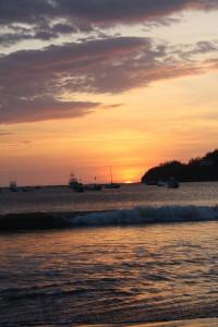 The sun sets on San Juan del Sur.