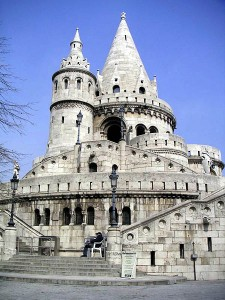 Fisherman's Bastion in Budapest. Photo via Wikimedia by Thorsten.