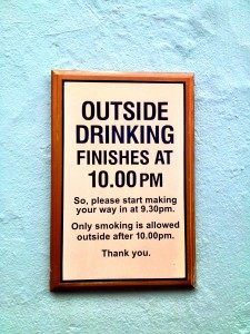 My biggest culture shock when I returned: No drinking in the park!