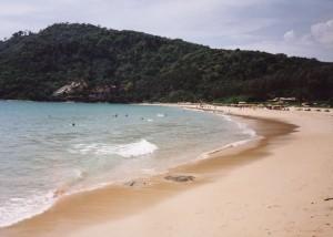 Nai Harm beach, Phuket, Thailand. Via Wikimedia by Ahoerstemeier.