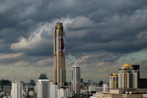 The Baiyoke Tower II in Bangkok, Thailand. Via Wikimedia by Paolobon140.
