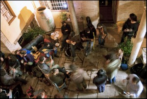 Many hostels offer live music in the evenings.