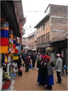 A busy street in Kathmandu