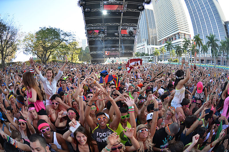 Ultra Music Festival 2013 - Miami. Photo via Wikimedia by Vinch.
