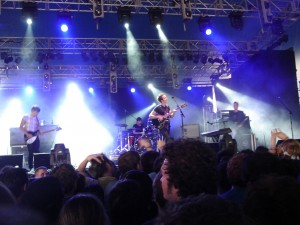 Editors performing at 2007 Splendour in the Grass Festival. Via Wikimedia by Bradii.