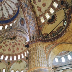 Inside of Blue Mosque. Photo courtesy of Hannah Yerington.